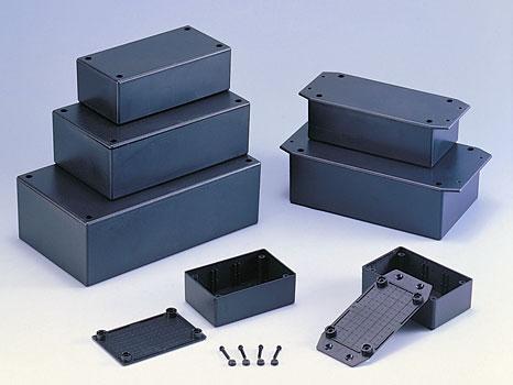 Монтажные коробки из ABS стандарта UL-94-HB (чёрн)